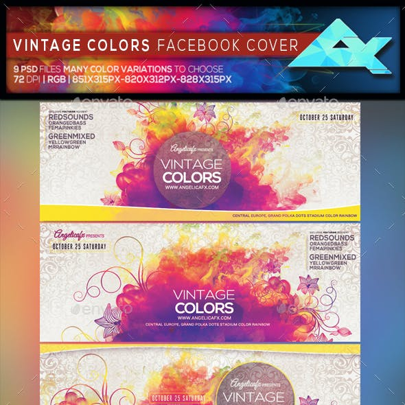 Vintage Colors Facebook Cover