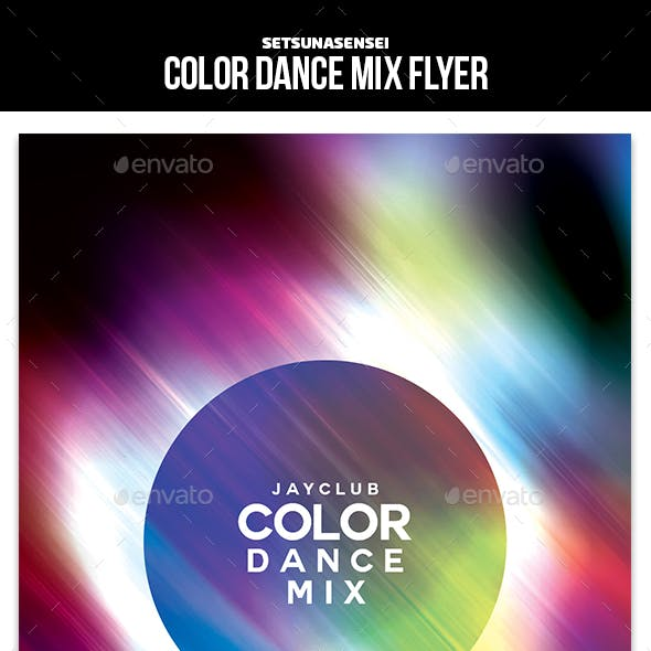 Color Dance Mix Flyer