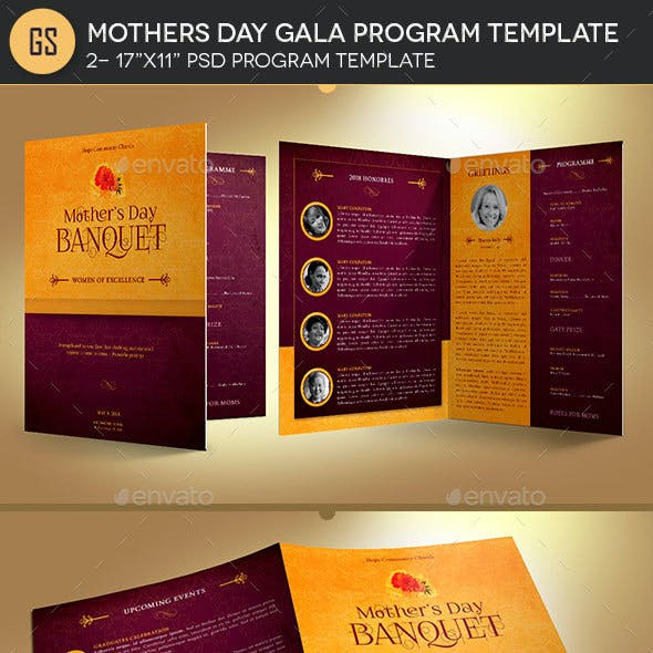 Mothers Day Gala Program Template