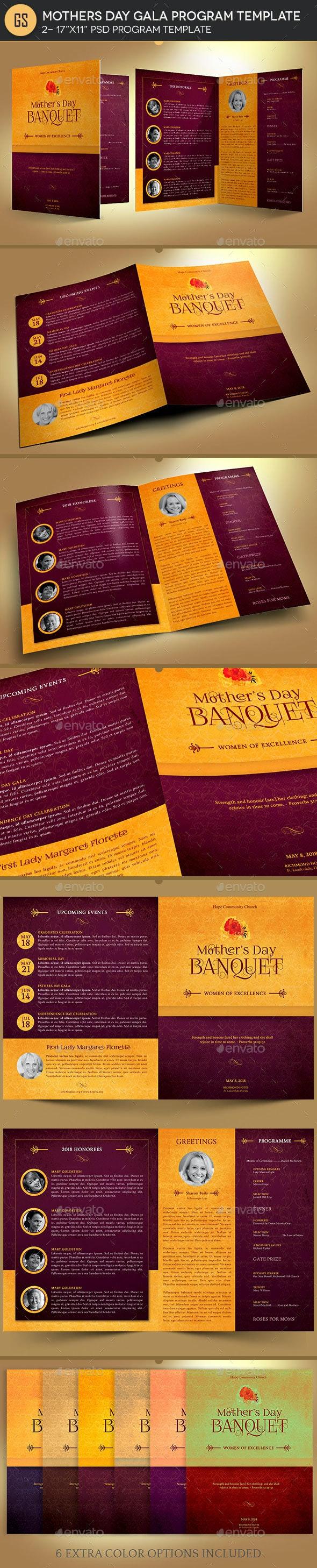Mothers Day Gala Program Template - Informational Brochures