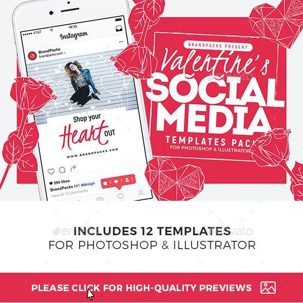 Valentines Social Media Templates Vol.4
