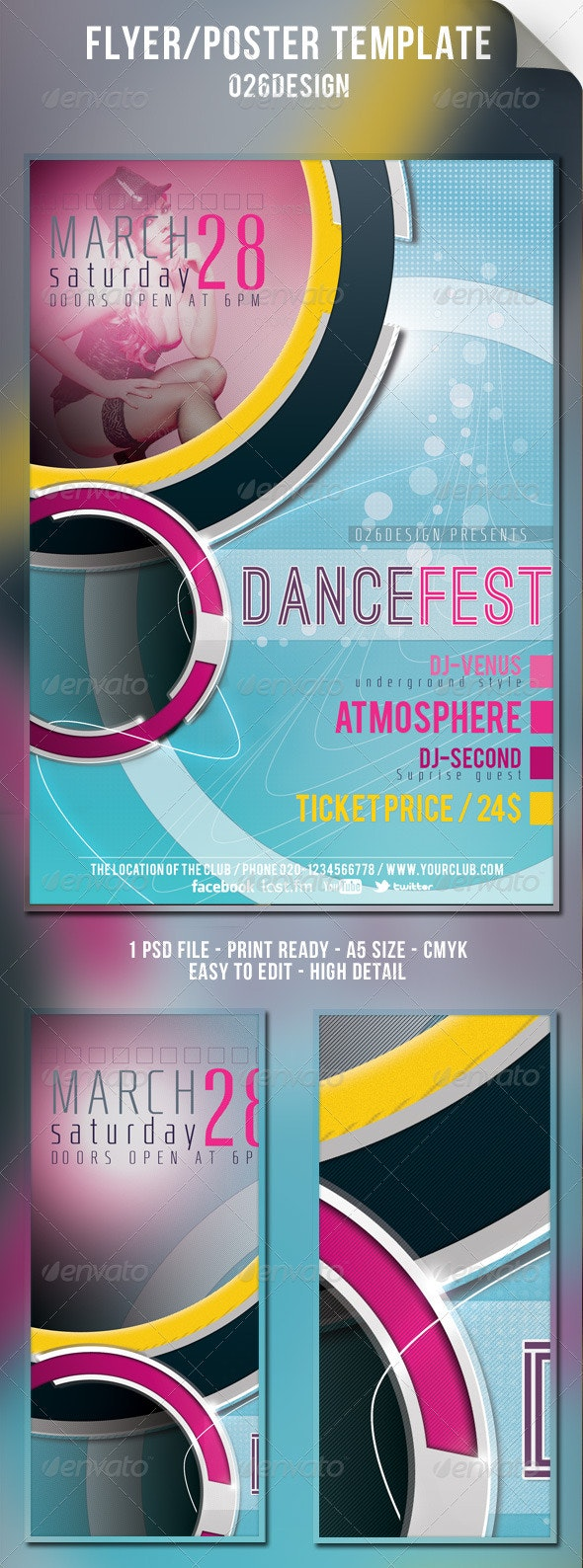 Dance Club Party Flyer - Flyers Print Templates