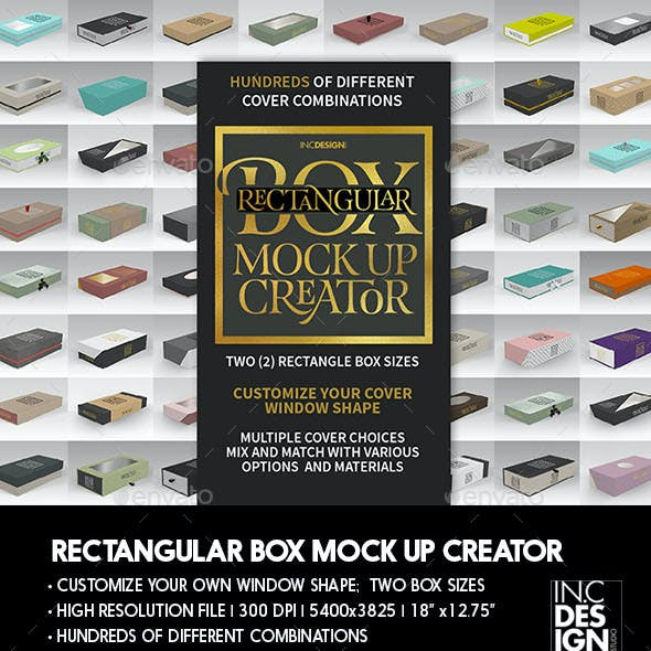 Rectangle Box Packaging Mock Up Creator
