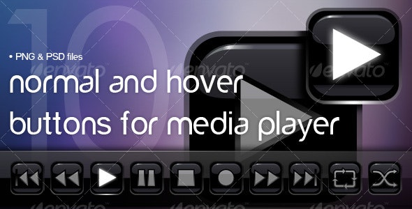 Player control buttons - Buttons Web Elements