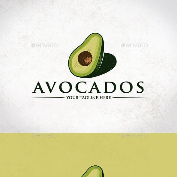 Healthy Avocado Logo Template