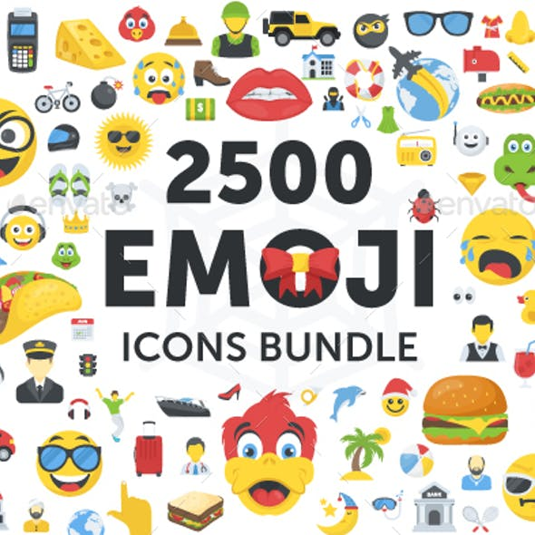 2500 Emoji Icons Bundle