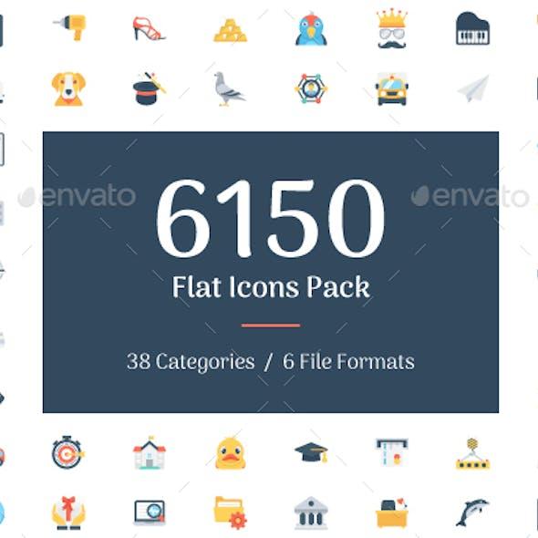 6150 Flat Icons Bundle