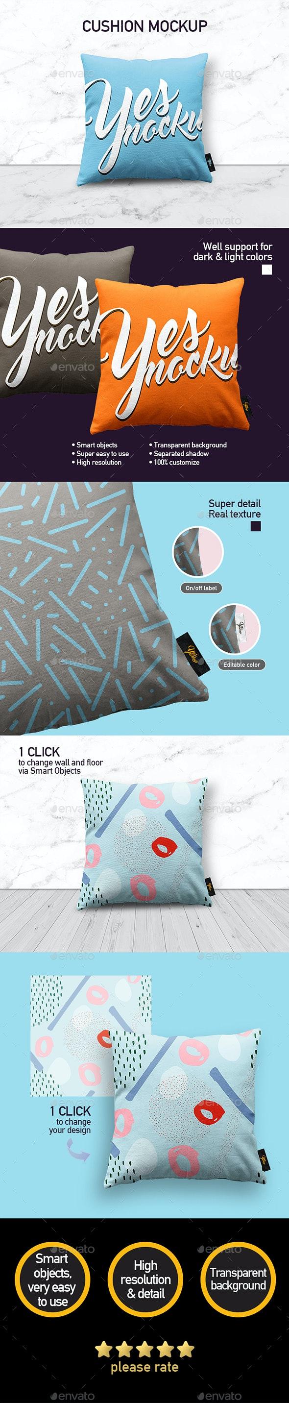 Fabric Pillow Mock up - Miscellaneous Product Mock-Ups