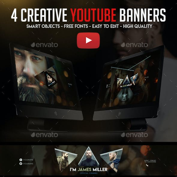 4 Creative YouTube Banners