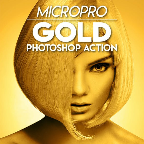 MicroPro Gold Photoshop Action