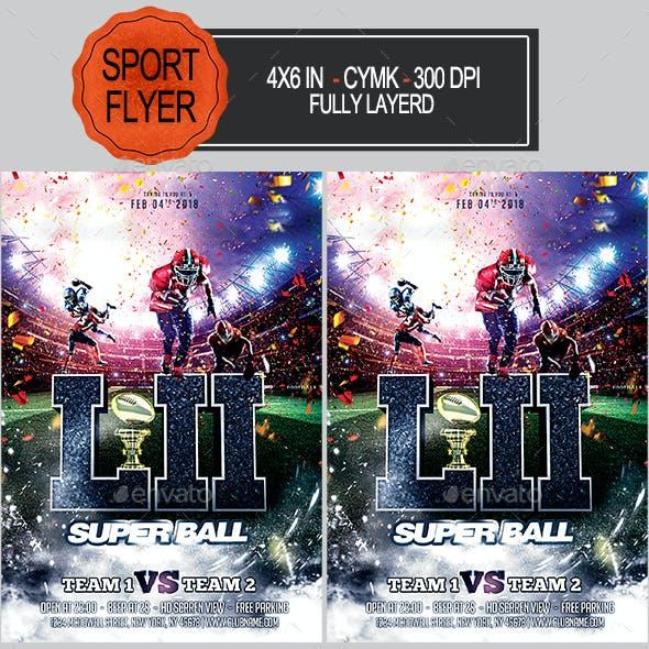 Football Super Ball Flyer