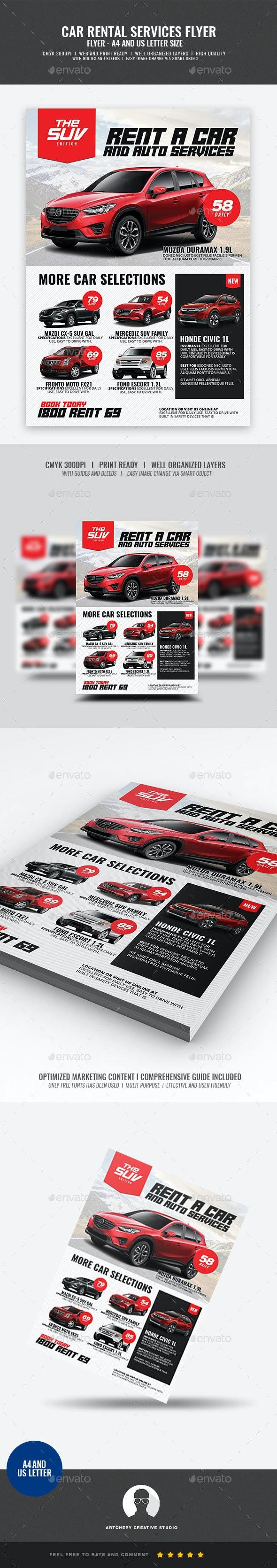 Car Rental Promotional Flyer - Corporate Flyers