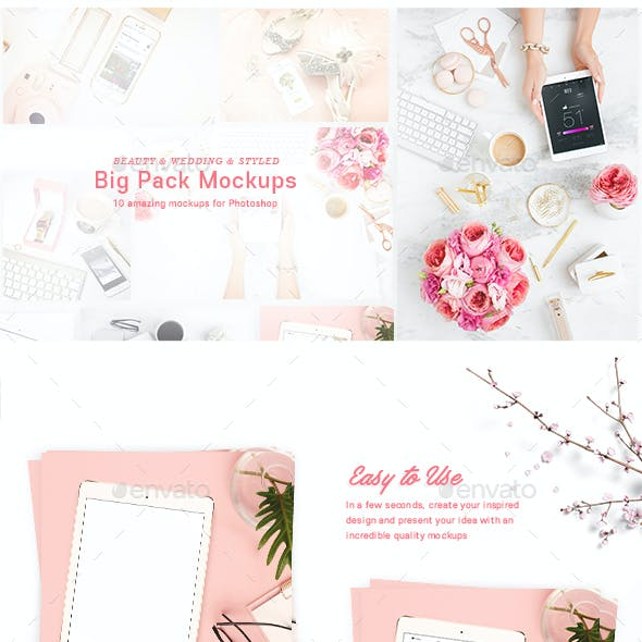 10 Beauty & Styled Mockups Big Pack