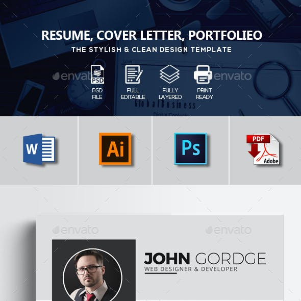 Corporate Resume Design Template