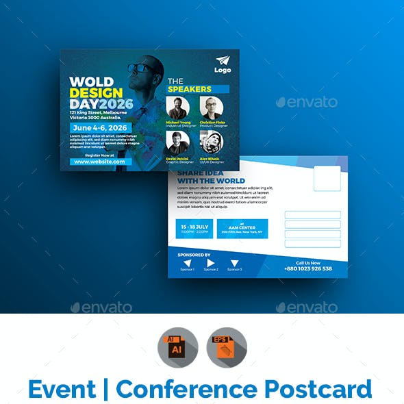 Conference / Event Postcard Template