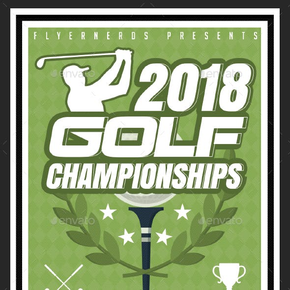 2018 Golf Championships Sports Flyer