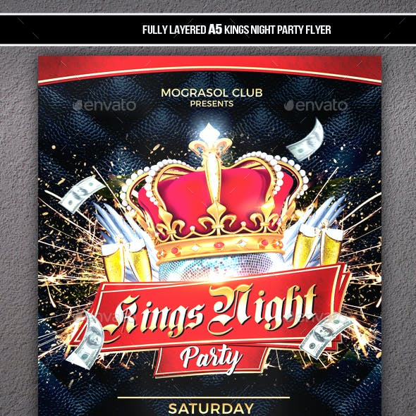 Kings Night Party Flyer
