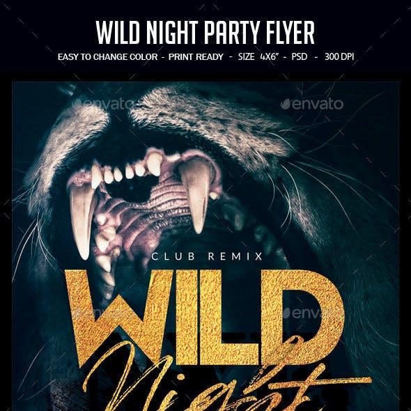 Wild Night Party Flyer