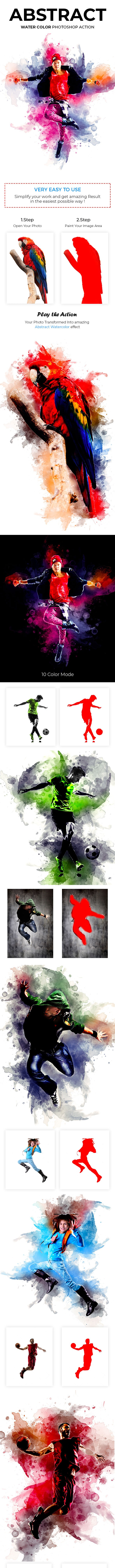 Abstract Watercolor Photoshop Action - Photo Effects Actions