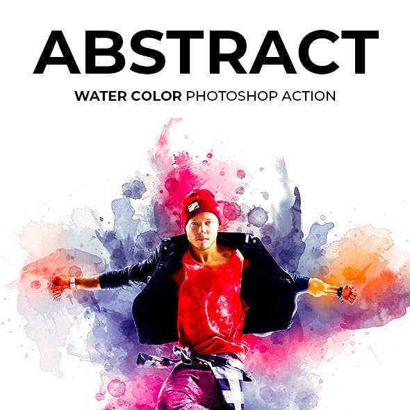 Abstract Watercolor Photoshop Action