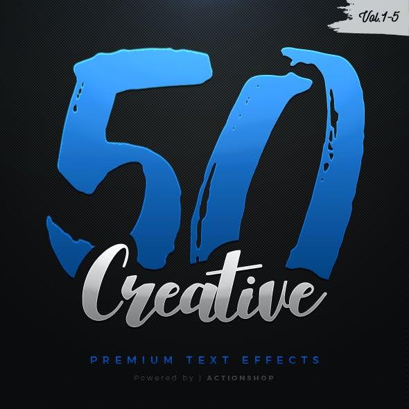 50 Creative Text Effects Bundle