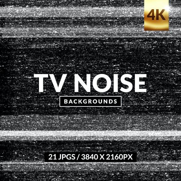 TV Noise Background