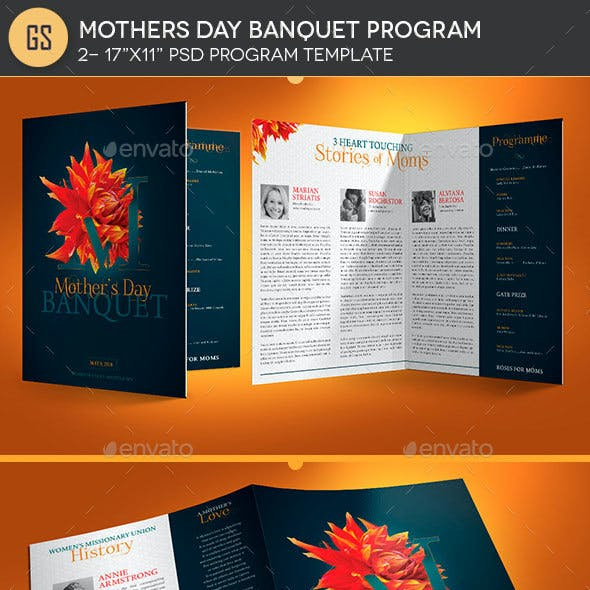 Mothers Day Banquet Program Template