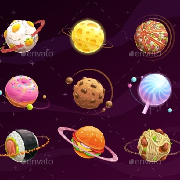 Food Planet Galaxy Concept