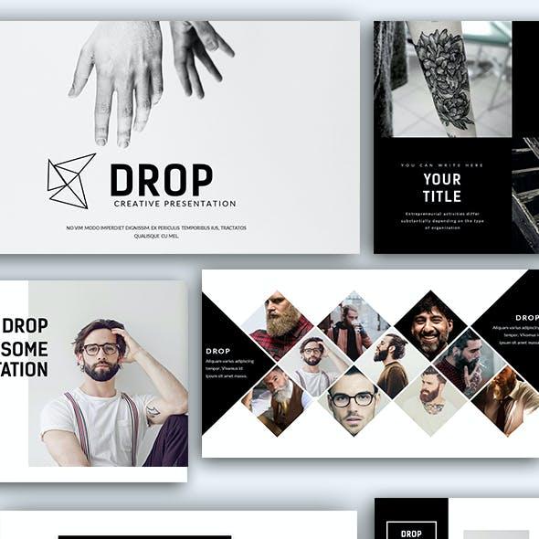 Drop Creative Presentation Google Slide