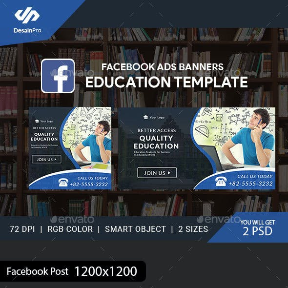 Education Facebook Ad Banners - AR
