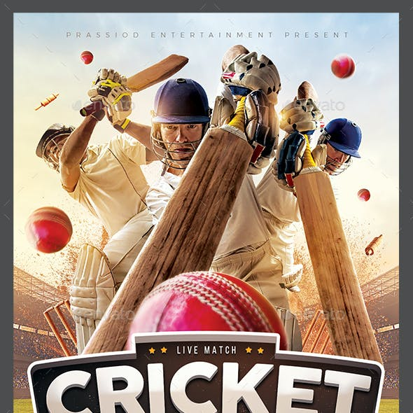 Cricket Match Flyer Template