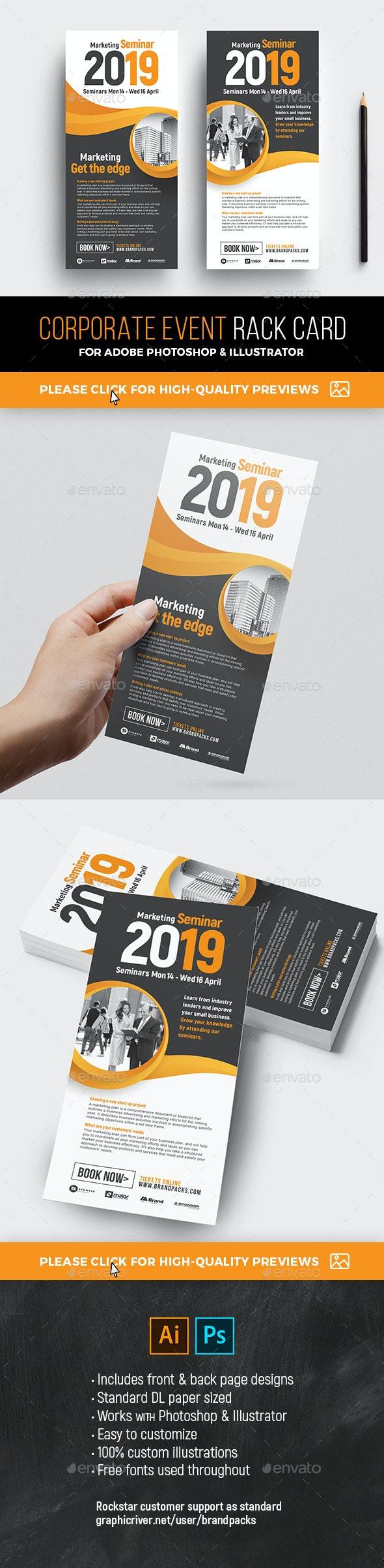 Corporate Event Rack Card Template - Corporate Flyers