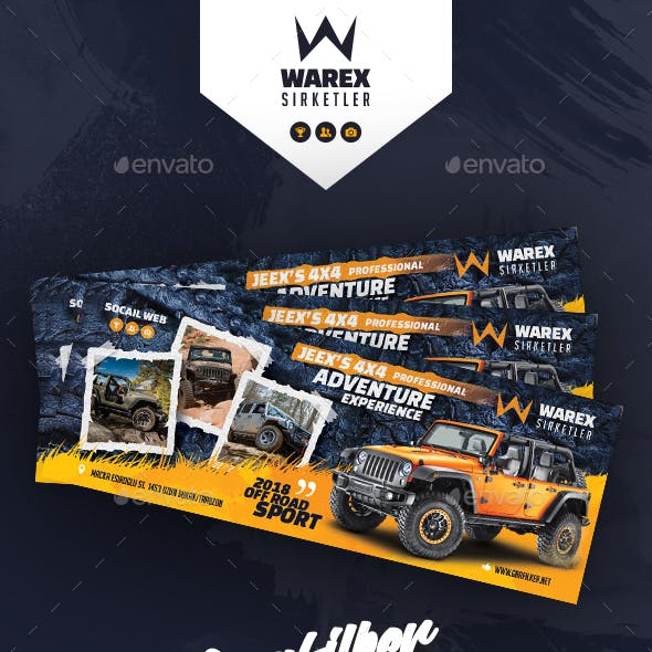 Off-Road Adventure Cover Templates