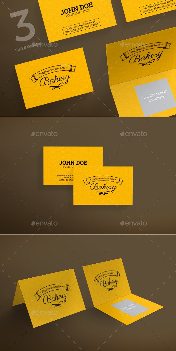 Bakery Business Card - Business Cards Print Templates