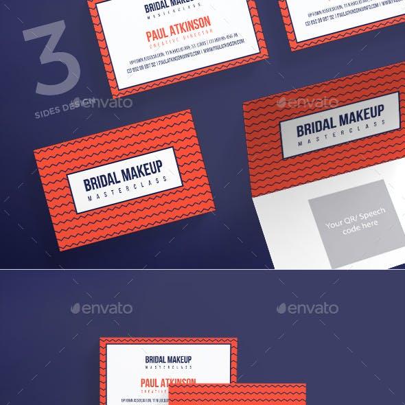 Bridal Makeup Business Card