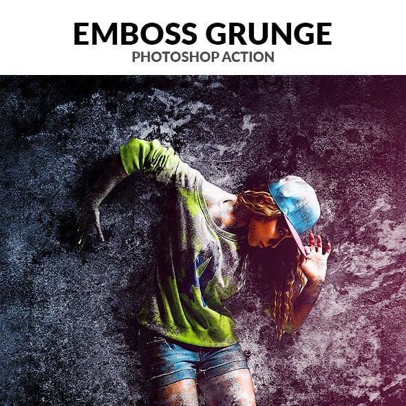 Emboss Grunge Photoshop Action