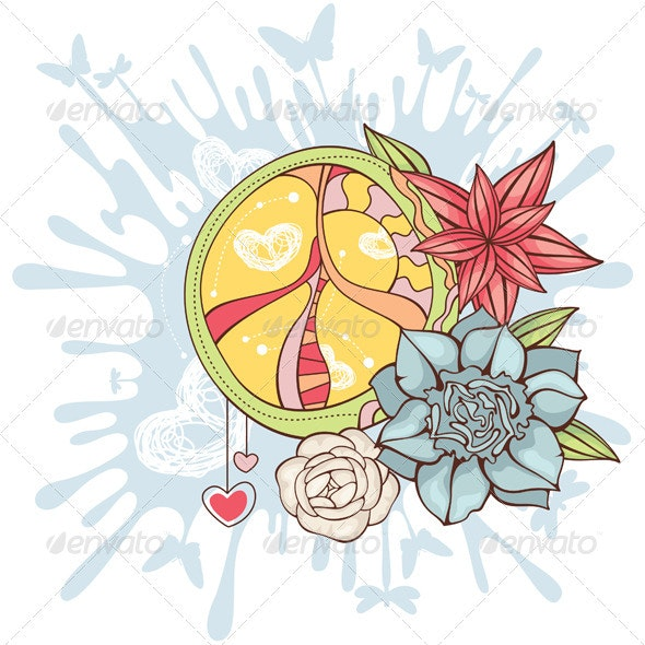 Peace Symbol Background - Decorative Symbols Decorative
