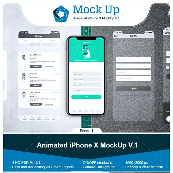 Animated iPhone X MockUp V.1