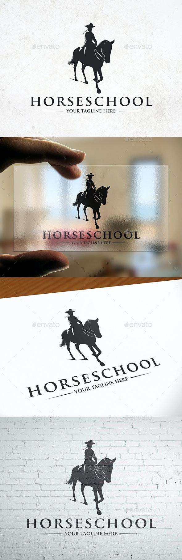 Horse Academy Logo Template