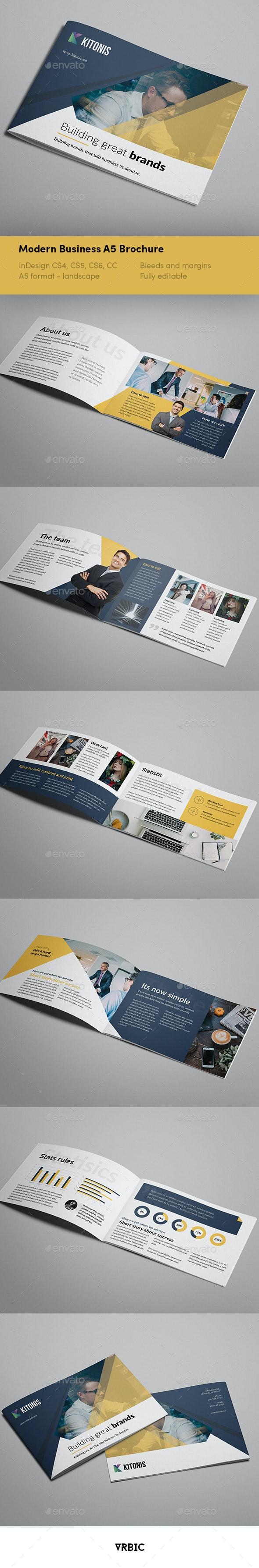 Modern Business A5 Brochure - Brochures Print Templates