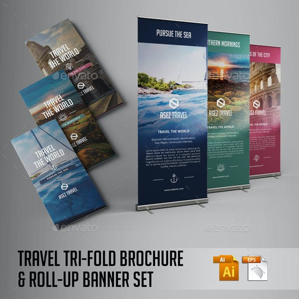 Travel Brochure and Banner Set