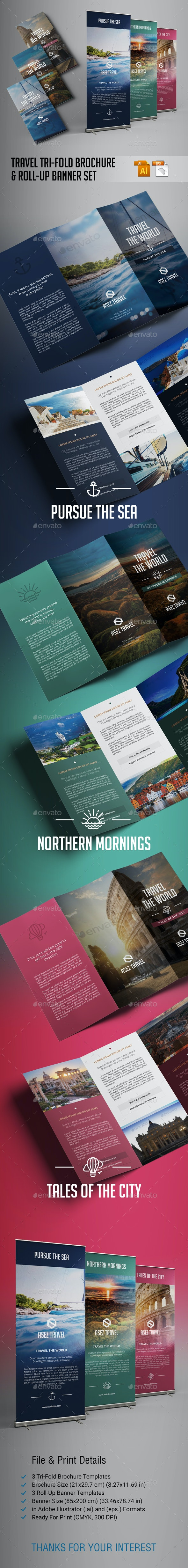 Travel Brochure and Banner Set by sezginavci91 | GraphicRiver
