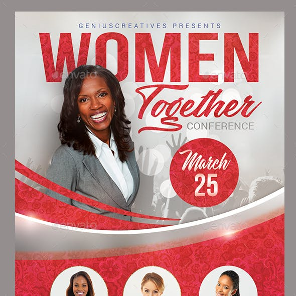 Church Event or Women's Conference Flyer Template