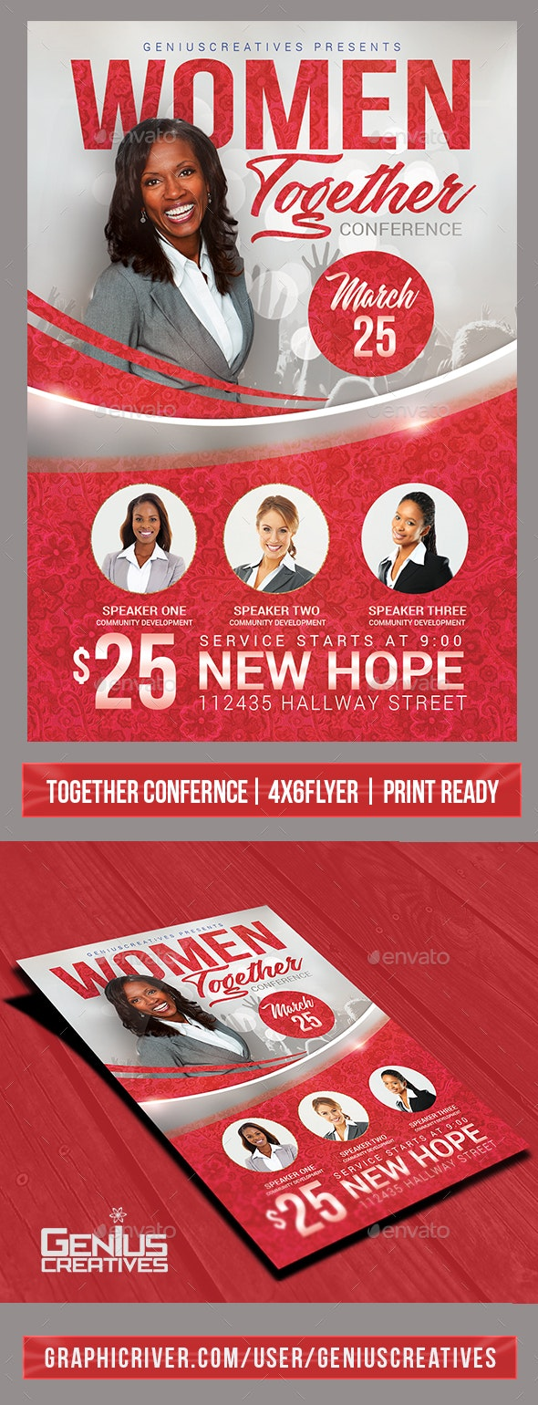 Church Event or Women's Conference Flyer Template - Church Flyers