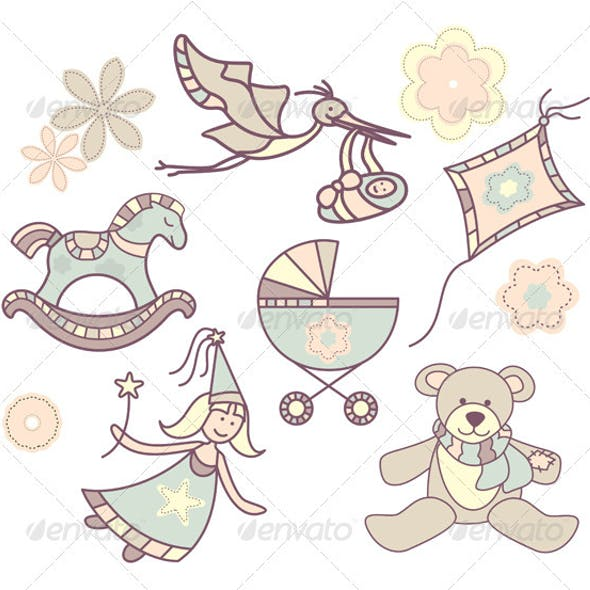Different Baby Illustrations