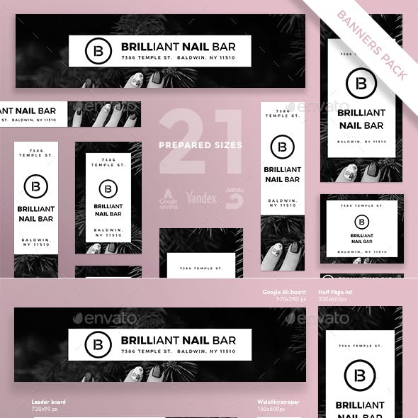 Nails Bar Banner Pack