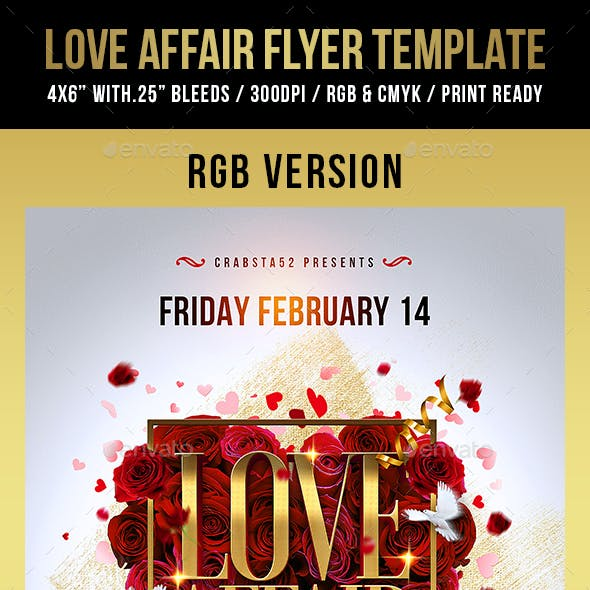 Love Affair Flyer Template