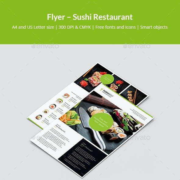 Flyer – Sushi Restaurant