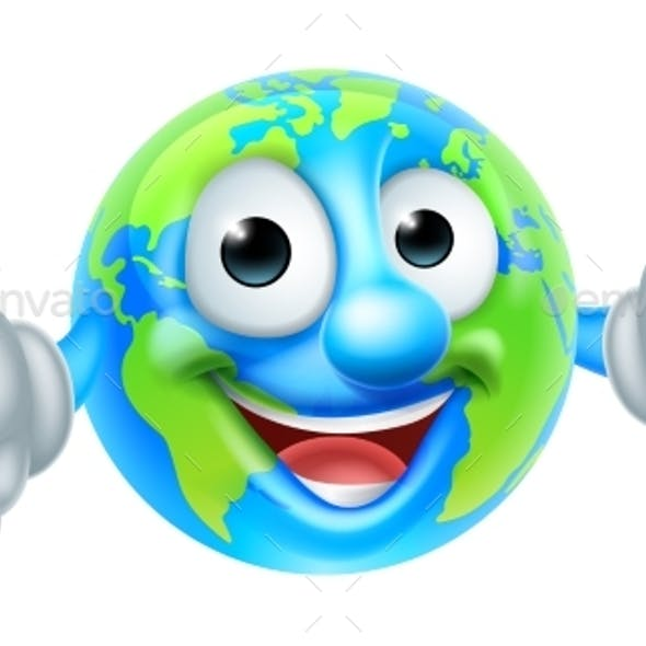 Cartoon World Earth Day Globe Character
