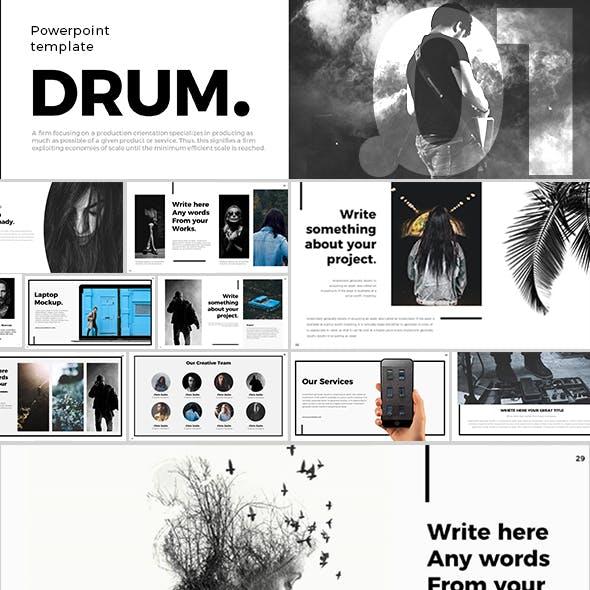 Drum Powerpoint Template